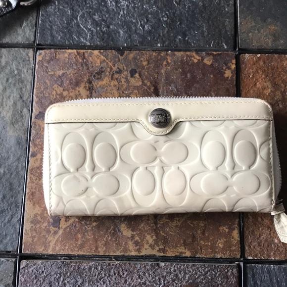Coach Handbags - White patent leather Coach wallet